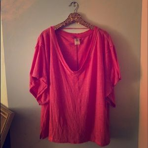 Free people hot pink 'we the free' t-shirt